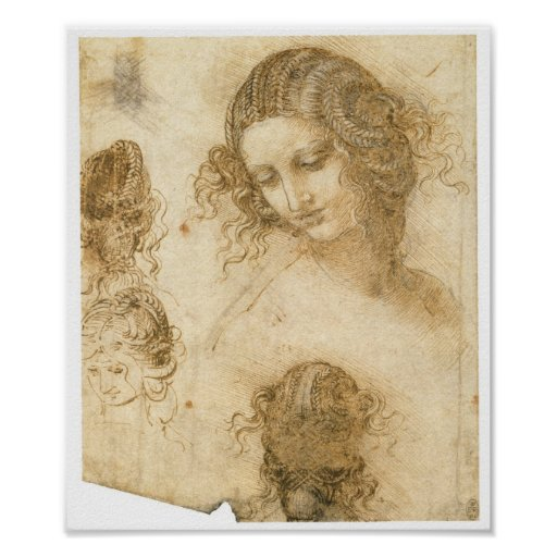 Study of Woman for Lost painting Leda, da Vinci Poster