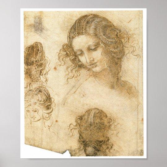 Study of Woman for Lost painting Leda, da Vinci Poster