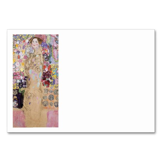 Study of Woman in Flowers Card