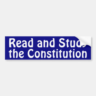 Study the Constitution Bumper Sticker