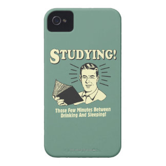 Studying: Drinking and Sleeping iPhone 4 Case