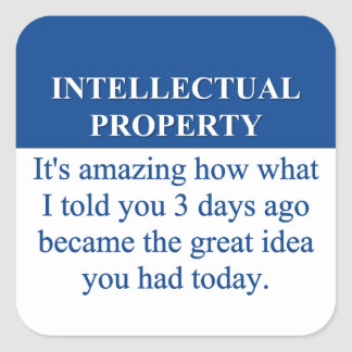 Studying Intellectual Property Law (3) Square Sticker