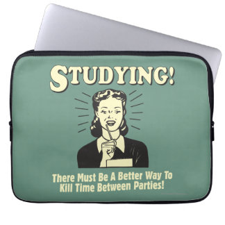 Studying: Kill Time Laptop Sleeve