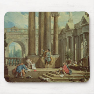 Studying Perspective among Roman Ruins Mouse Mat