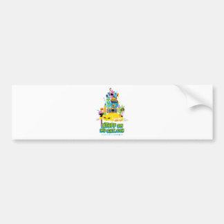Stuff on my Cat - cartoon stack Bumper Sticker