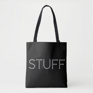 Stuff. Plain and Simple. Tote Bag