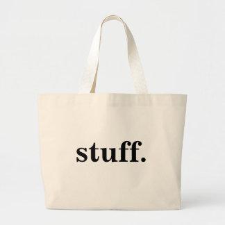 stuff. jumbo tote bag