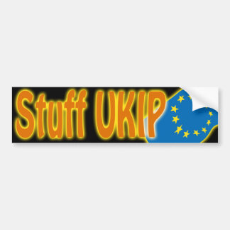 """Stuff Ukip"" UK's European Union EU referendum Bumper Sticker"