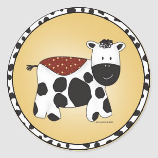Stuffed Animal Cow Sticker
