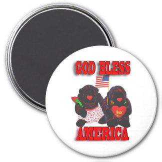 Stuffed Gorillas God Bless America Magnet
