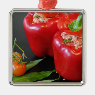 Stuffed peppers christmas ornament