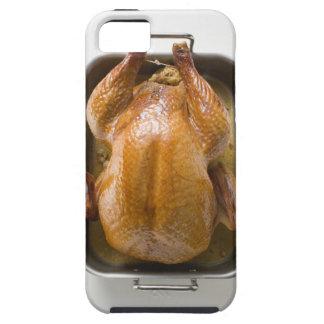 Stuffed roast turkey in roasting tray, close up tough iPhone 5 case