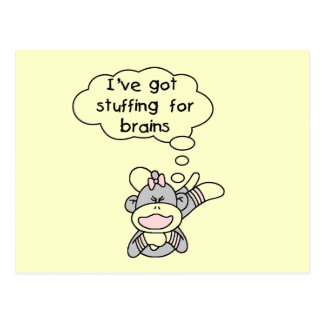 Stuffing for Brains Tshirts and Gifts Post Card