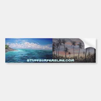 STUFFSURFERSLIKE.COM'S ISLAND FEVER BUMPER STICKER CAR BUMPER STICKER