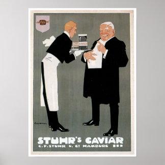 Stuhr's Caviar Fish Vintage Food Ad Art Print