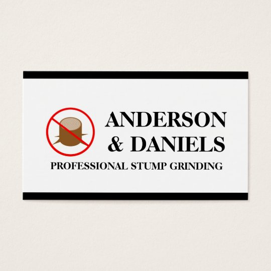 Stump Grinding Grinder Prune Tree Removal Service Business Card