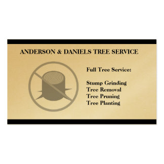 Stump Grinding Grinder Prune Tree Removal Service Business Card Template