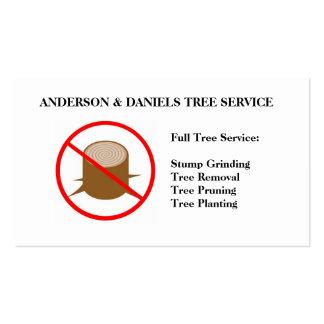 Stump Grinding Grinder Prune Tree Removal Service Business Cards