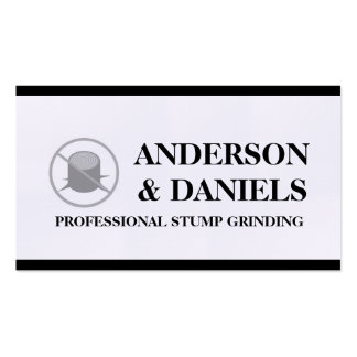 Stump Grinding Grinder Prune Tree Removal Service Business Card Templates
