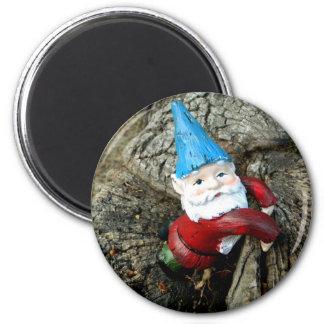 Stumped Gnome 6 Cm Round Magnet