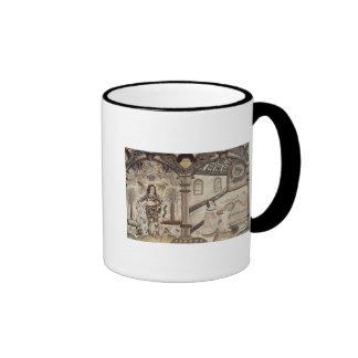 Stumpwork depicting Charles I  and Charles II Ringer Mug