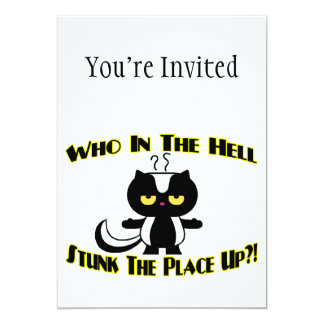 Stunk The Place Up Skunk 13 Cm X 18 Cm Invitation Card