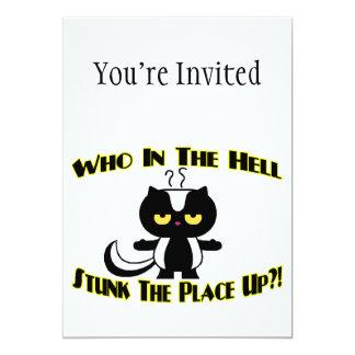 Stunk The Place Up Skunk 13 Cm X 18 Cm Invitation Card