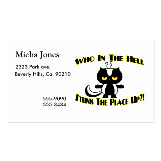 Stunk The Place Up Skunk Business Card Templates