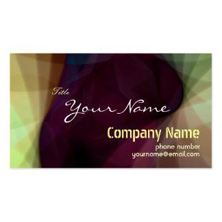 Stunning Abstract Colorful Light Business Card