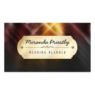 Stunning Abstract Colorful Light with Gold Plate Pack Of Standard Business Cards