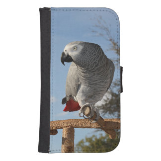 Stunning African Grey Parrot Samsung S4 Wallet Case