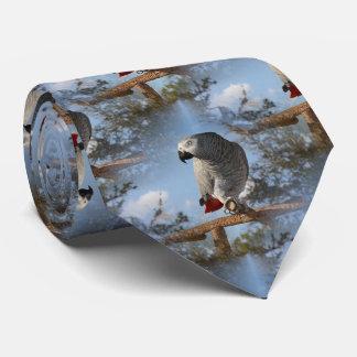 Stunning African Grey Parrot Tie