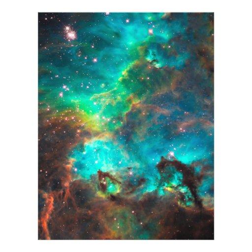 Stunning Aqua Star Cluster Full Color Flyer