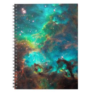Stunning Aqua Star Cluster Notebooks