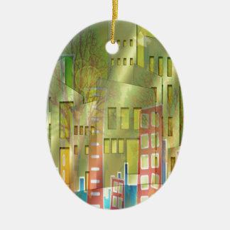 Stunning architecture cityscape art accessories christmas ornament
