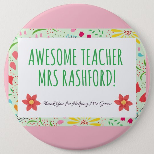 Stunning Awesome Teacher Bagde 6 Cm Round Badge