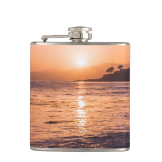 Stunning Beach Sunset Hip Flask