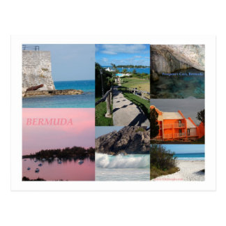 Stunning Bermuda Photo Collage by Celeste Sheffey Postcard