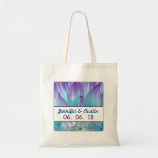 Stunning Blue and Purple Wedding Dahlia A01Q Budget Tote Bag