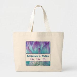 Stunning Blue and Purple Wedding Dahlia A01R Jumbo Tote Bag