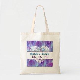Stunning Blue and Purple Wedding Dahlia A01T Budget Tote Bag