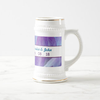 Stunning Blue and Purple Wedding Dahlia A18 Beer Steins