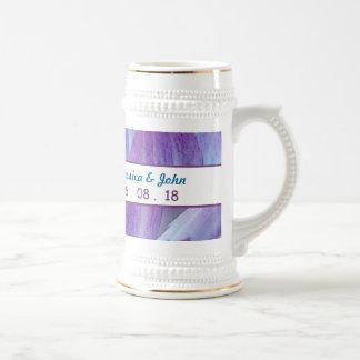 Stunning Blue and Purple Wedding Dahlia A18 18 Oz Beer Stein