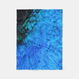 Stunning Blue Peacock Fleece Blanket
