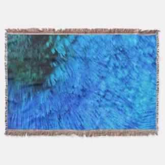 Stunning Blue Peacock Throw Blanket