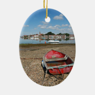 Stunning Bosham Harbour England Ceramic Oval Decoration