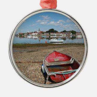 Stunning Bosham Harbour England Silver-Colored Round Decoration