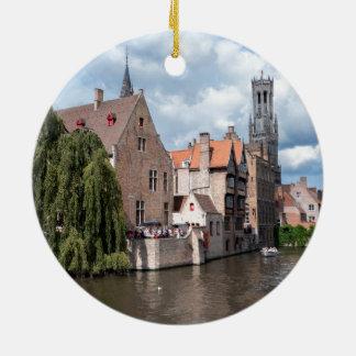 Stunning! Bruges - Belgium Round Ceramic Decoration