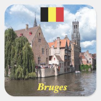 Stunning! Bruges - Belgium Square Sticker