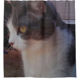 Stunning Cat Profile Shower Curtain